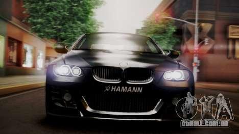 BMW M3 E92 Hamman para GTA San Andreas vista interior