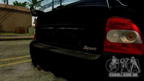 VAZ 2172 Coupé para GTA San Andreas vista traseira