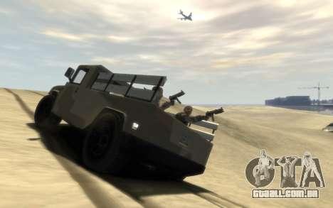 GTA 5 Millitary Patriot para GTA 4 esquerda vista
