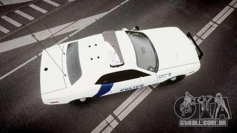 Dodge Challenger Homeland Security [ELS] para GTA 4 vista direita