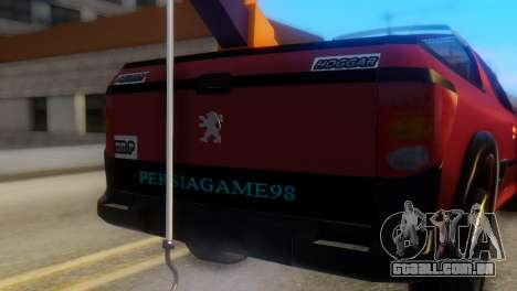 Peugeot 206 TowTruck para GTA San Andreas vista traseira