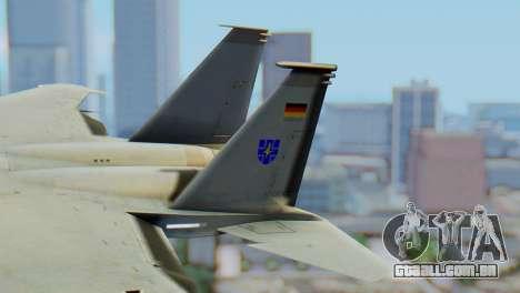 F-15C Eagle Luftwaffe JG 73 para GTA San Andreas traseira esquerda vista