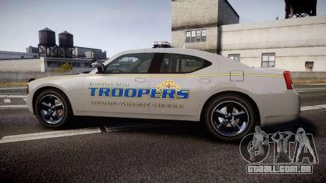 Dodge Charger Alaska State Trooper [ELS] para GTA 4 esquerda vista