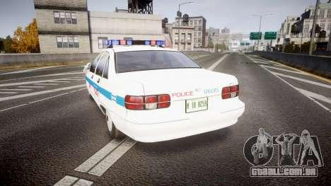 Chevrolet Caprice Liberty Police v2 [ELS] para GTA 4 traseira esquerda vista