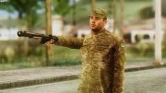 Um Membro Das Forças Armadas Da Ucrânia