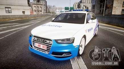 Audi S4 Avant Belgian Police [ELS] para GTA 4