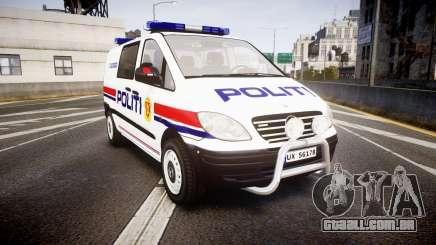 Mercedes-Benz Vito 2014 Norwegian Police [ELS] para GTA 4