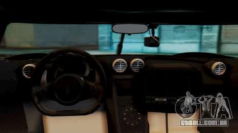 NFS Rivals Koenigsegg Agera R Enforcer para GTA San Andreas vista direita
