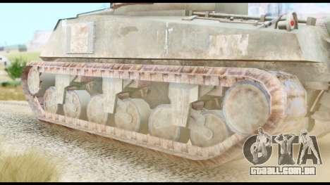 M4 Sherman 75mm Gun Urban para GTA San Andreas traseira esquerda vista