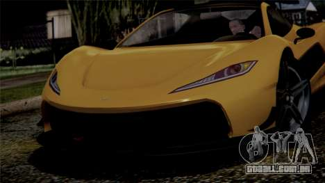 GTA 5 Progen T20 IVF para GTA San Andreas vista traseira