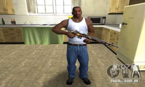 Gold Rifle para GTA San Andreas terceira tela