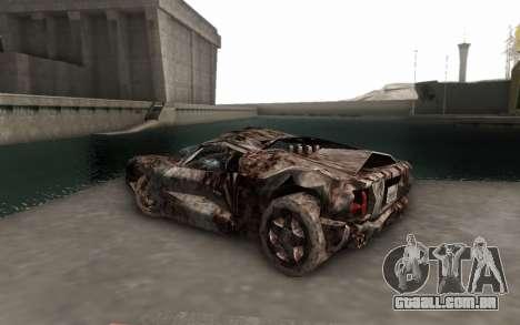 Bullshit para GTA San Andreas esquerda vista