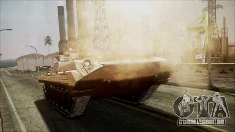 Call of Duty 4: Modern Warfare BMP-2 para GTA San Andreas vista direita