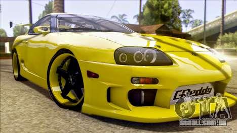 Toyota Supra 1998 E-Design para GTA San Andreas vista superior