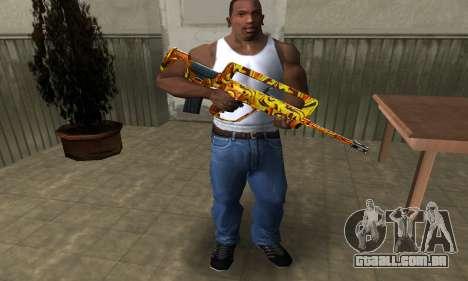 Golden AUG A3 para GTA San Andreas terceira tela