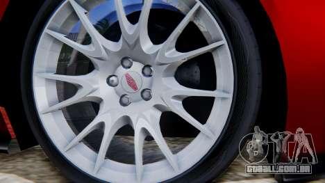 Jaguar XKR-S 2011 Cabrio para GTA San Andreas traseira esquerda vista
