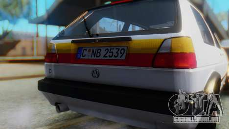 Volkswagen Golf 2 para GTA San Andreas vista traseira