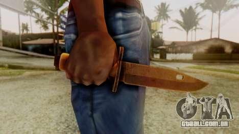 Combat Knife para GTA San Andreas terceira tela