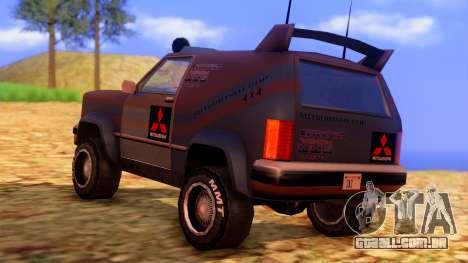 Sandking Mitsubishi Cup para GTA San Andreas esquerda vista