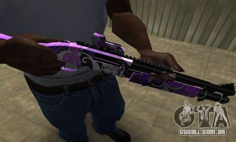 Purple World Shotgun para GTA San Andreas