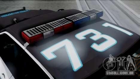 Hunter Citizen Police LS IVF para GTA San Andreas vista direita