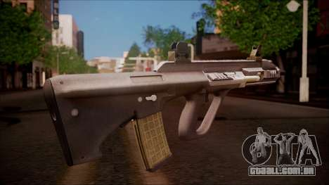 AUG A3 from Battlefield Hardline para GTA San Andreas segunda tela