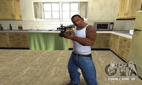 Gold Rifle para GTA San Andreas segunda tela