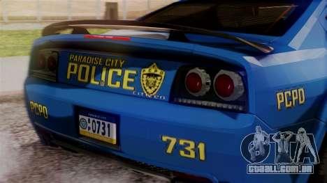 Hunter Citizen from Burnout Paradise v2 para GTA San Andreas vista traseira