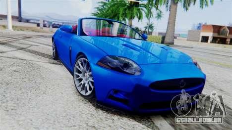 Jaguar XKR-S 2011 Cabrio para GTA San Andreas vista traseira