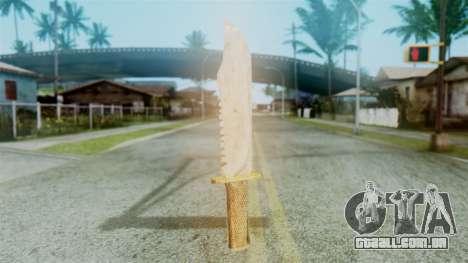 Red Dead Redemption Knife Diego Skin para GTA San Andreas segunda tela
