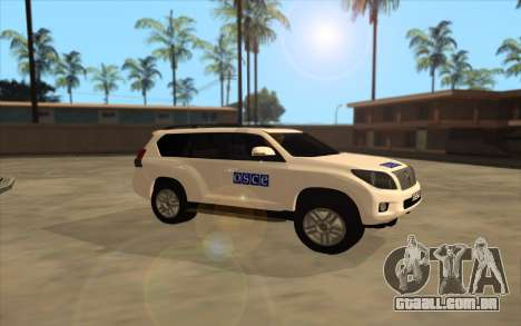 Toyota Land Cruiser OSCE (ОБСЕ) para GTA San Andreas esquerda vista