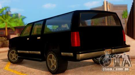 FBI 4-door Yosemite para GTA San Andreas esquerda vista