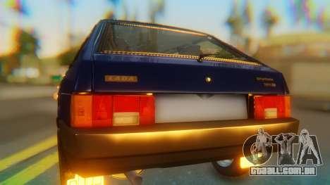 VAZ 2108 Stoke para GTA San Andreas vista traseira