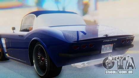 Invetero Coquette BlackFin v2 GTA 5 Plate para GTA San Andreas vista superior