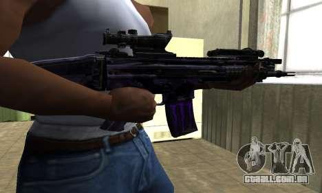 Blue Scan M4 para GTA San Andreas segunda tela
