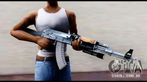 AK-47 de L4D2 para GTA San Andreas terceira tela