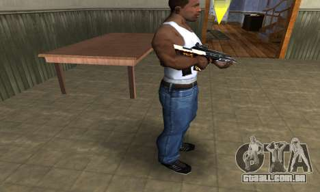 Gold AUG para GTA San Andreas terceira tela