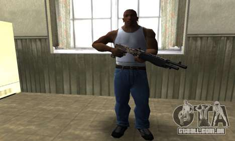 Brown Combat Shotgun para GTA San Andreas terceira tela