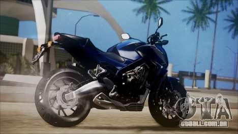 Honda CB650F Azul para GTA San Andreas esquerda vista