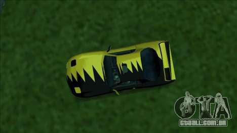 ZR-350 Double Lightning para GTA San Andreas vista superior