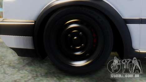 Volkswagen Golf 2 para GTA San Andreas traseira esquerda vista