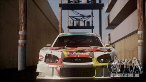 Subaru Impreza 2003 Love Live Muse Team Itasha para GTA San Andreas vista traseira