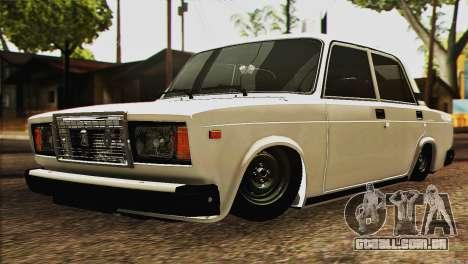 VAZ 2107 E-Design para GTA San Andreas vista traseira