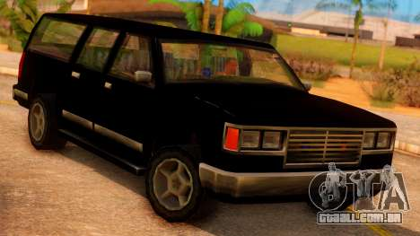 FBI 4-door Yosemite para GTA San Andreas vista traseira