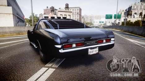 GTA V Imponte Duke O Death [HD Interior] para GTA 4 traseira esquerda vista