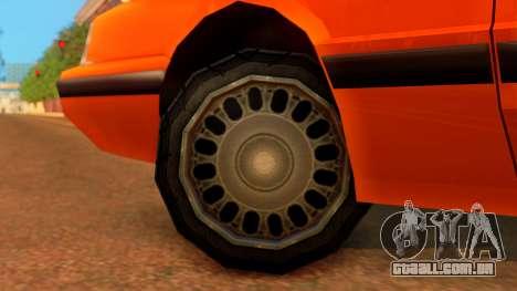 Taxi Intruder para GTA San Andreas traseira esquerda vista