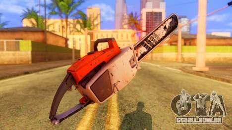 Atmosphere Chainsaw para GTA San Andreas segunda tela