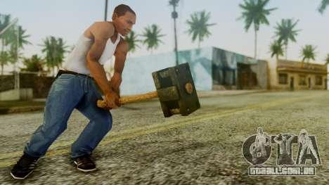 Bogeyman Hammer from Silent Hill Downpour v1 para GTA San Andreas terceira tela