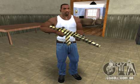 Gold Lines AK-47 para GTA San Andreas terceira tela