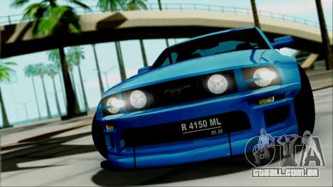 Ford Mustang GT Modification para GTA San Andreas vista direita